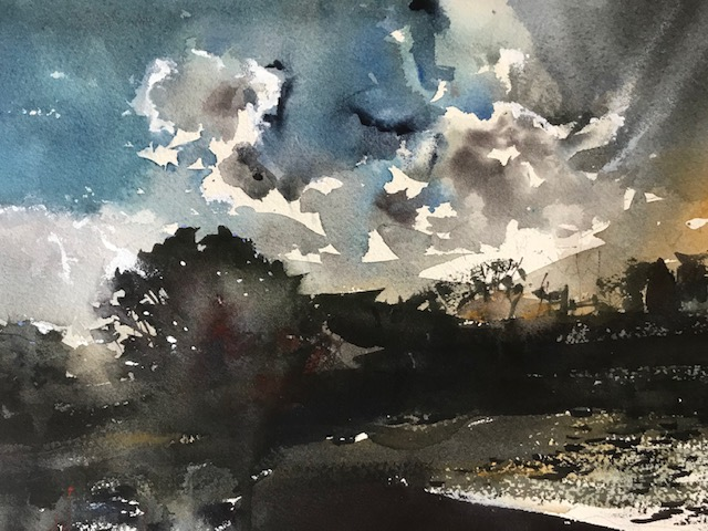 David Heywood 'Bury Fishery' Original Watercolour
