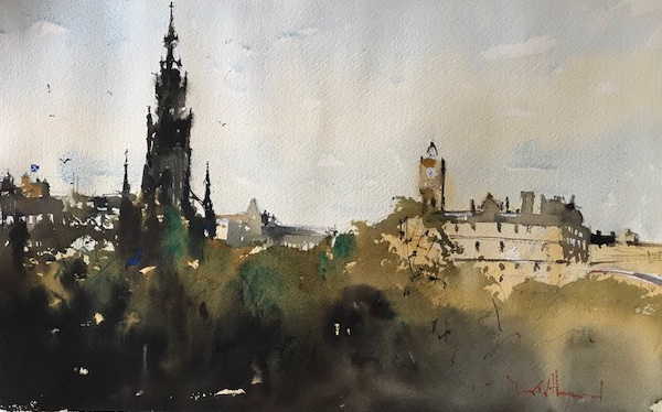 "David Heywood 'Edinburgh"" Original Watercolour"
