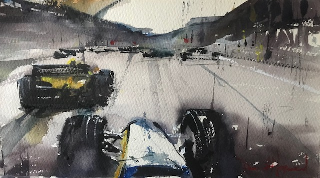 "David Heywood ""F1 a Drivers Perspective"" Original Watercolour"