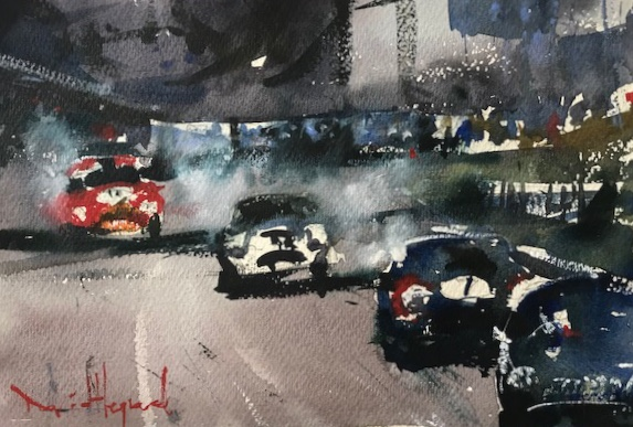 David Heywood 'Goodwood Revival 2018' Original Watercolour