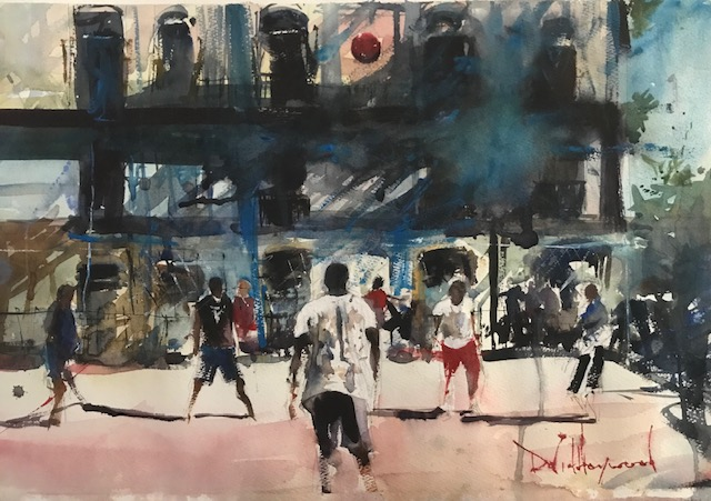 "David Heywood 'Havana"" Original Watercolour"