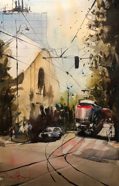 "David Heywood 'Krakow"" Original Watercolour"