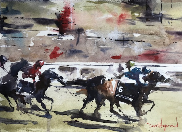 "David Heywood 'Masar"" - Epsom Derby Winner 2018 Original Watercolour"