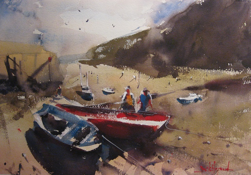 David Heywood 'Clovelly' Original Watercolour